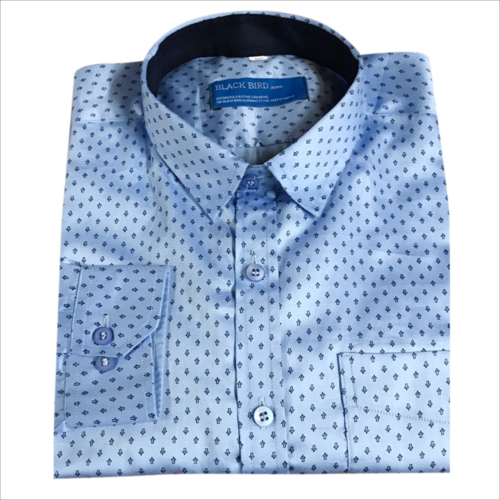 Mens Dotted Cotton Shirt