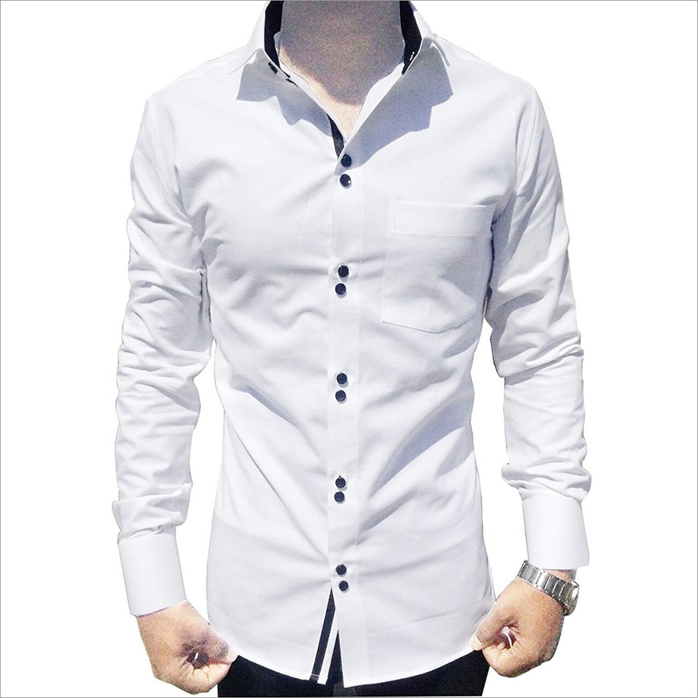 Men's Causal White Shirt