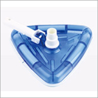 Deluxe Triangular Transparent Cast Iron Weighted Vac Head