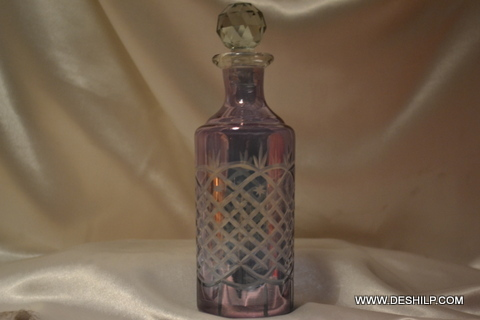 Vintage Decanter Glass Decanter Mid Decanter Liquor Decanter Gls Round Top Decanter