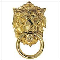 Gold Lion Head Door Knocker