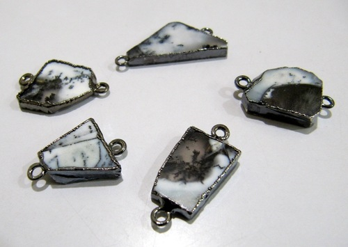 Natural Dendrite Opal Slice Connector