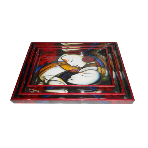 Wooden Serving Tray And Mdf Printed Tray