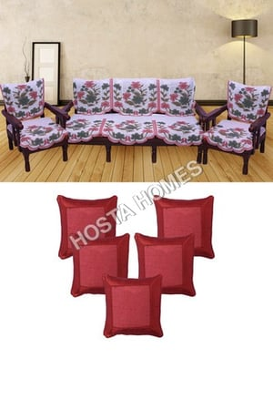 Poly Cotton Sofa Covers Set Of 5 :: Cushion Covers 5 Pieces