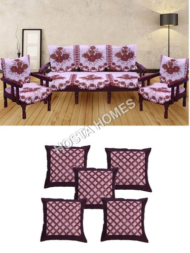 Multicolor Poly Cotton Sofa Set :: Cushion Covers 5 Pieces