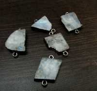 Natural Rainbow Moonstone Connector