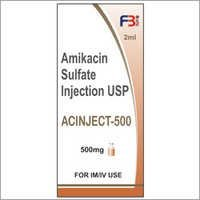 Amikacin Sulfate Injection USP (Acinject Injection 500)