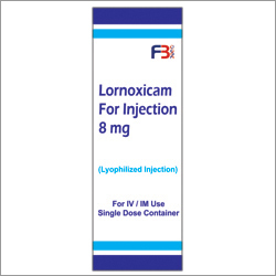 Lornoxicam For Injection 8mg