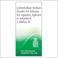 Colistimethate Sodium Powder For Injection
