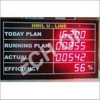 LED Production Data Display Boards