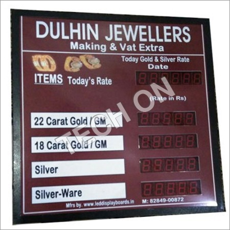 Jewellery Rate Display Boards