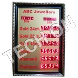 Jewellers Rate Card Display Boards