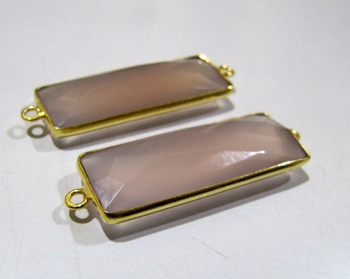 Pink ChalcedonyConnector