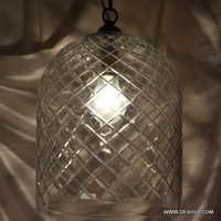 Swirling Glass Globe Pendant Light