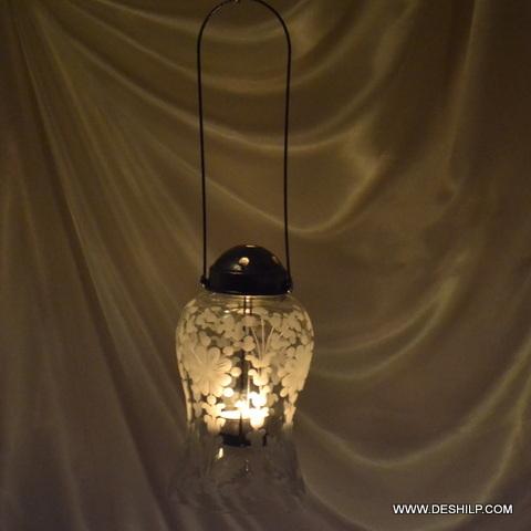 Hanging Candle Holders , Mercury Glass Votive Holder, mercury-look coating on the inside