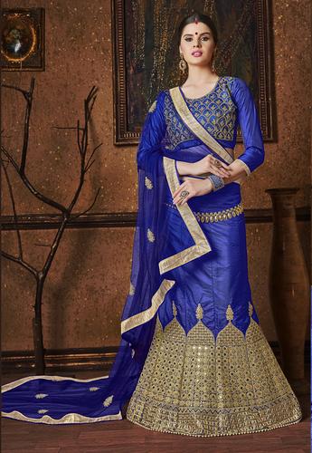 Silk Heavy Zari Ambla  Work Wedding Lahenga Choli