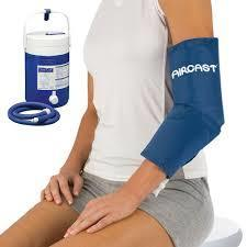 Elbow cryo cuff with cooler and tube assembly