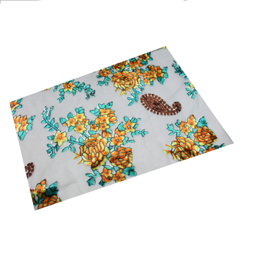 Printed Burnout Velvet Fabric