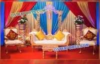 Indian Sangeet Mehandi Stage Decoration For Marriage