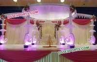 Peacock Crystal Mandap For Wedding
