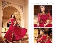 Georgette suits with embroidary work + stone glossy