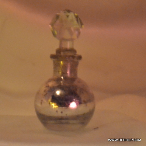 Vintage Silver Glass Small Decanter