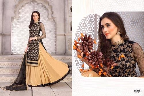 Long Lehanga Style Salwar Kameez Online