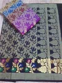 COTTON SILK WEAWING BEAUTIFULL DESINER SAREE
