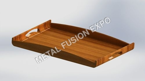 Curved Wooden Tray 15 x 21