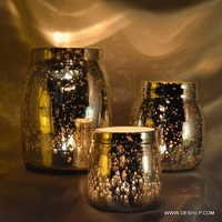 Crystal Diamond Glass Jar For Candle amber cosmetic glass jar Food Packaging GLass