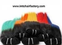 Double Colour Synthetic Hair Weft