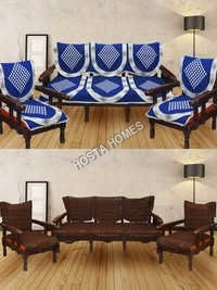 Super Combo Abstract Design Sofa Set :: 5 Seater Sofa Cover Bworn Color