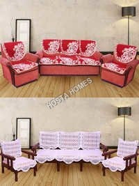 Super Home Combo Floral 5 Seater Sofa Set :: 6 Pieces Sofa Cover Set