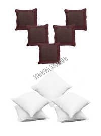 Brown Color 5 Cushion Covers :: 5 Plain Cushion Covers
