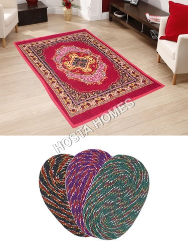 Super Home Combo Poly Cotton Carpet :: 3 Door Mats
