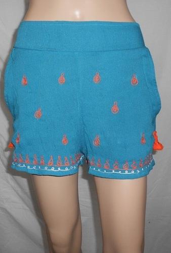 Shandao OEM Manufacture Women Vintage Casual Rayon Crepe Crossfit Shorts