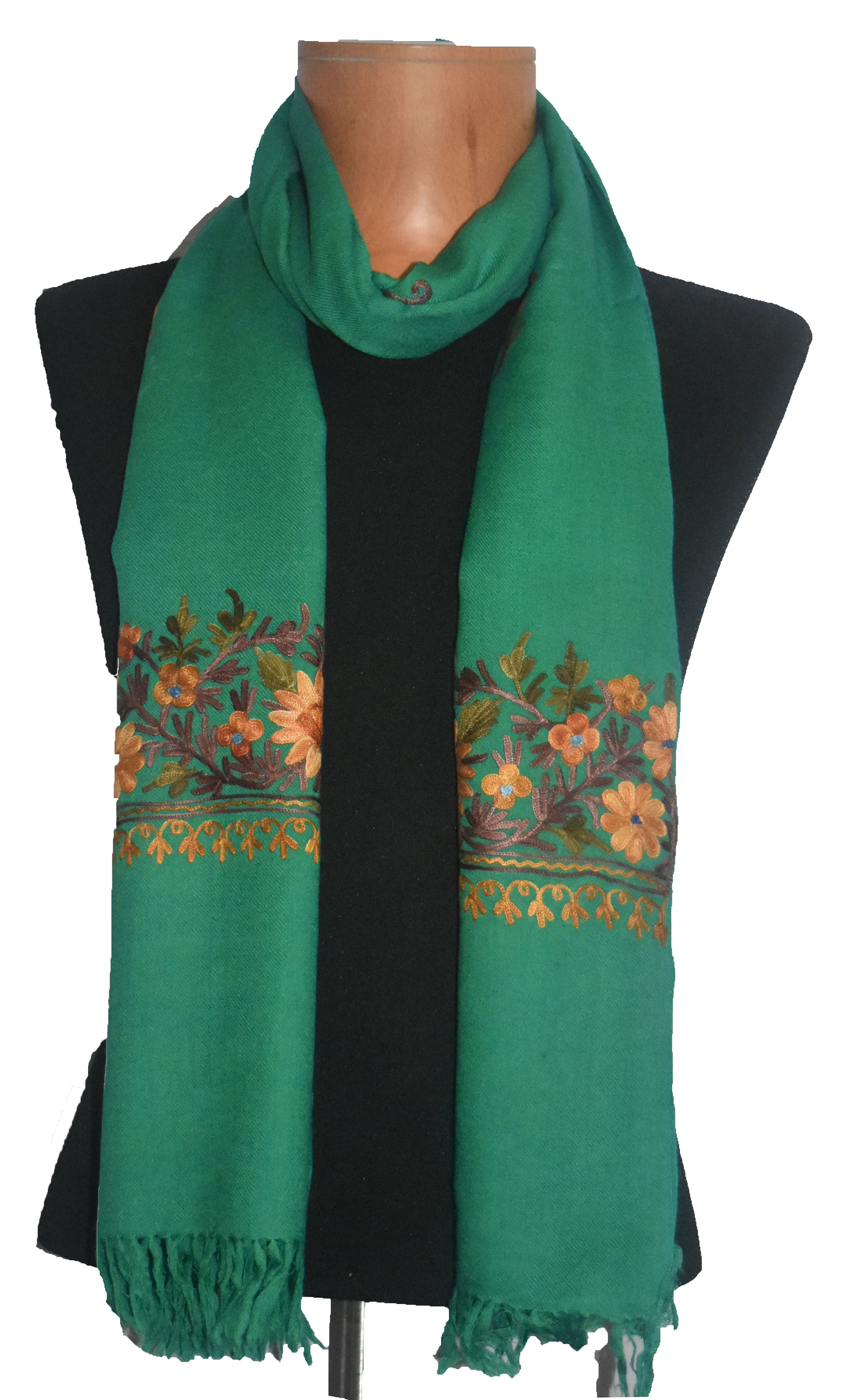 Woolen Mono Color Fancy Shawl