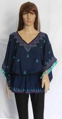 New Design lady Dress Bohemian w/Mexican Embroidery Women Batwing Sleeve Over Size Blouse Mandala