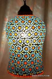 Special Mosaic Glass Lamp Five shade Mosaic Glass Red Sun Lamp