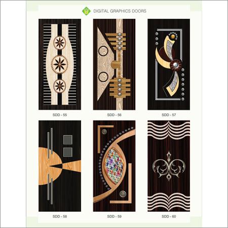 Digital Wooden Graphic Doors