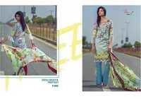 Cambric cotton work suits with chiffon dupatta rang rasiya by shree fabs
