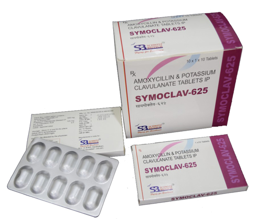 Amoxicillin 500 mg + Clavulanic acid 125 mg Tablet