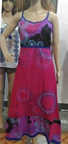 OEM Latest Design Printed Sleeveless Cotton Short Kaftan Abaya Women Evening Dress mandala