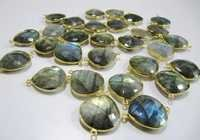 Blue Flashy Labradorite  Connectors