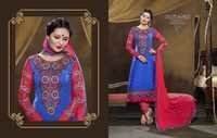 EMBROIDARY WORK SUITS WITH CHIFFON DUPATTA DIORA BY JSP FABRICS