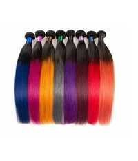 Two Tone Synthetic Color Hair