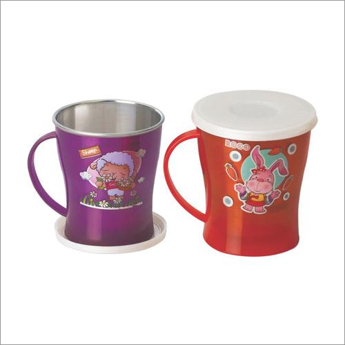 Espresso Steel Mug With LID