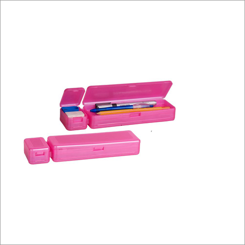 Four Door Plastic Pencil Box
