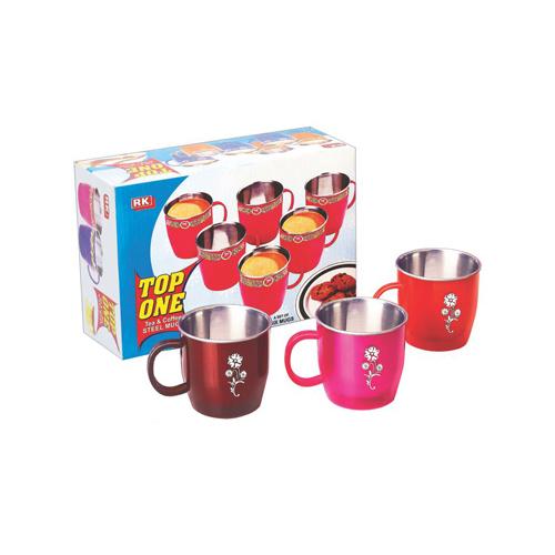 Plastic Tea Coffee Mug Set With Steel Inside