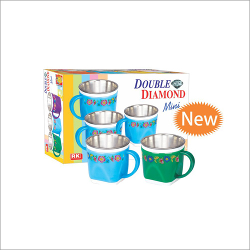 Double Diamond Mini Steel Mug